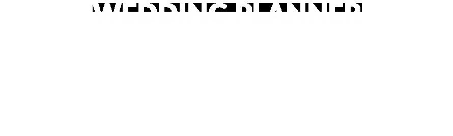 planer ślubny biały tekst